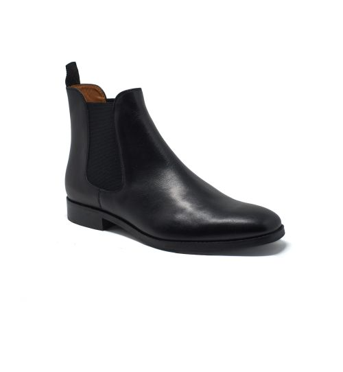 black chelsea boots mens leather