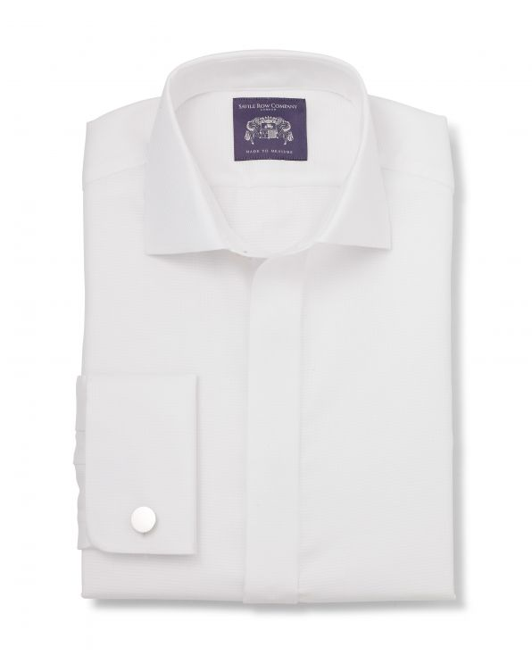 Arden White Dobby Made-To-Measure Shirt