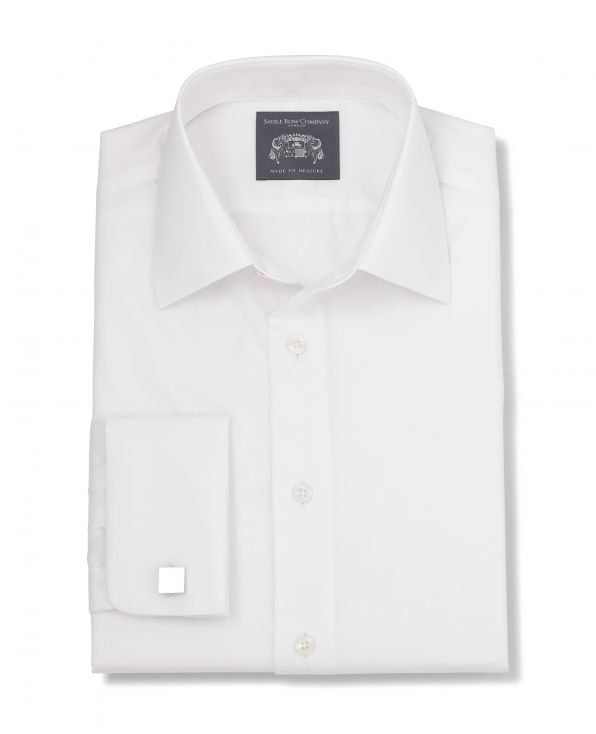 Arlo White Fine Twill Made-To-Measure Shirt