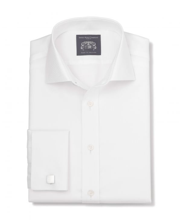 Aubrey White Twill Made-To-Measure Shirt