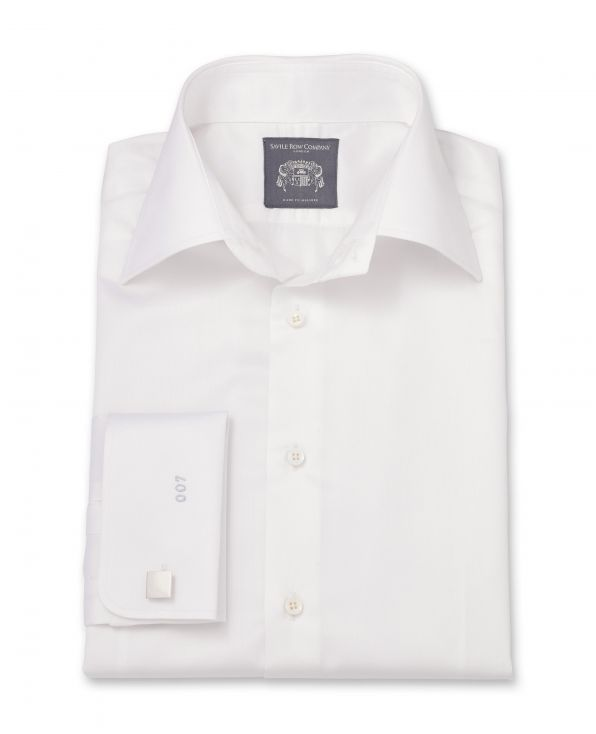 Austin White Extra-Fine Twill Made To Measure Shirt