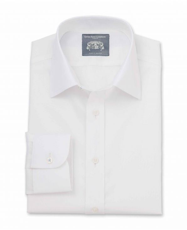 Cameron White Pinpoint Made-To-Measure Shirt