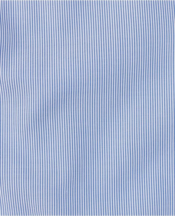 Jacob Navy Fine Bengal Stripe Made To Measure Shirt - Large Image