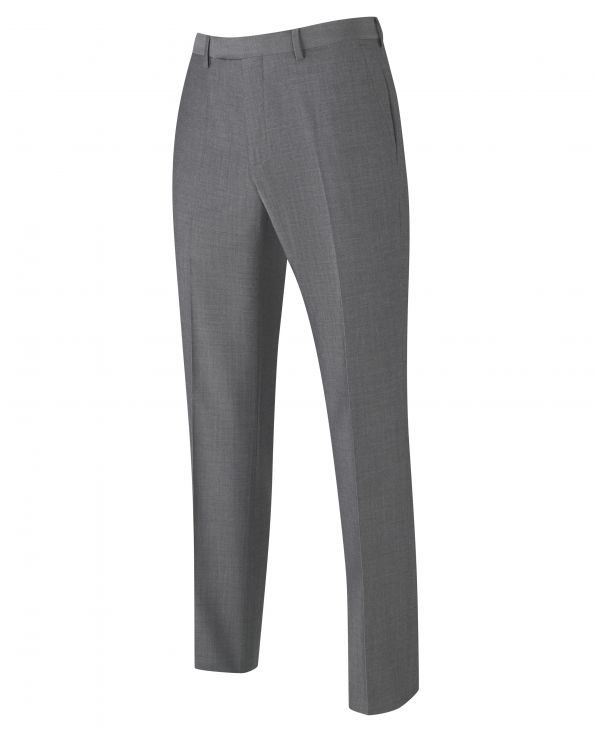 Grey Tailored Business Suit Trousers - MFT507GRY - Large Image