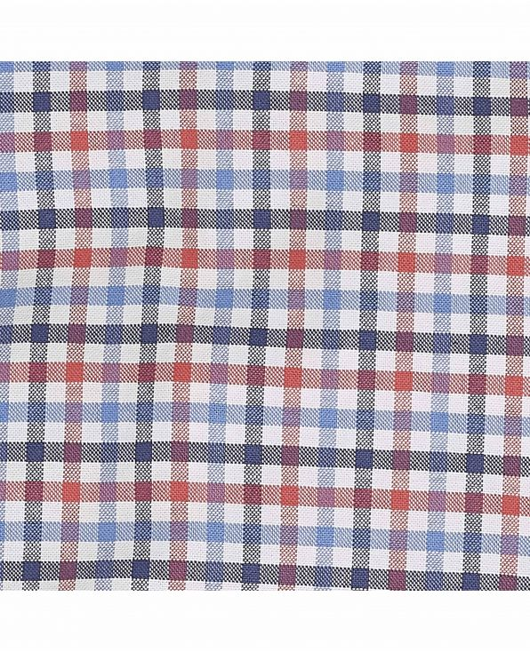 Blue Red Check Oxford Lounge Shorts - MLS985NRB - Small Image 280x344px