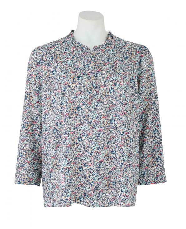 Floral-Print Long Sleeve Women's Blouse - LSC402FLW - Small Image 280x344px