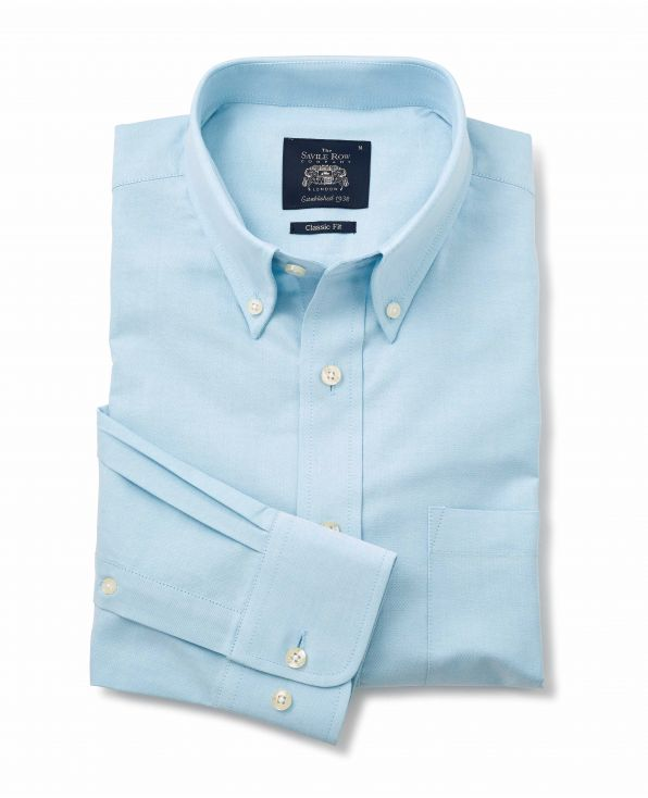 Turquoise Button-Down Oxford Shirt - 1188TUR - Small Image 280x344px