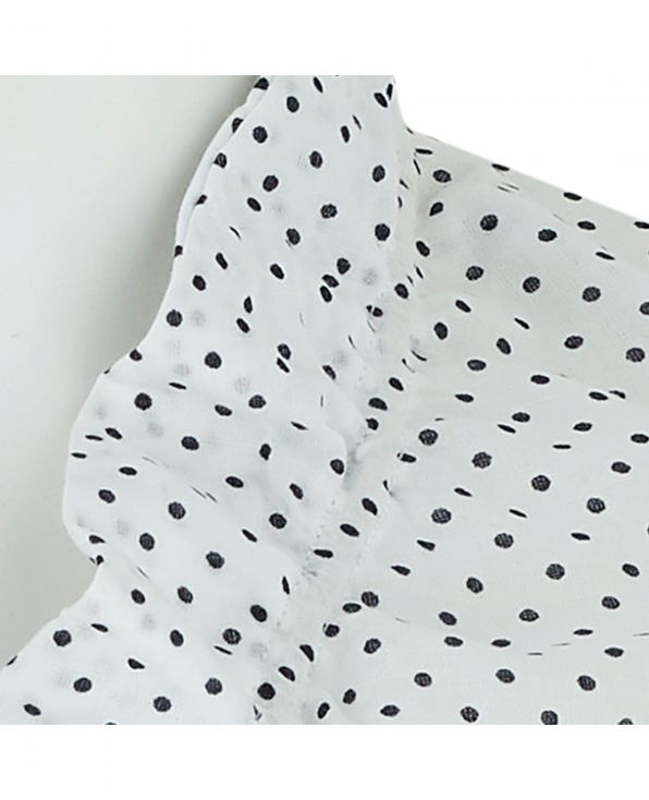 White Spotted Semi-Fitted Women's Shirt - LSC404WHN - Small Image 280x344px