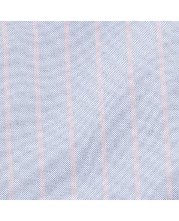 Blue Pink Stripe Classic Fit Casual Button-Down Shirt