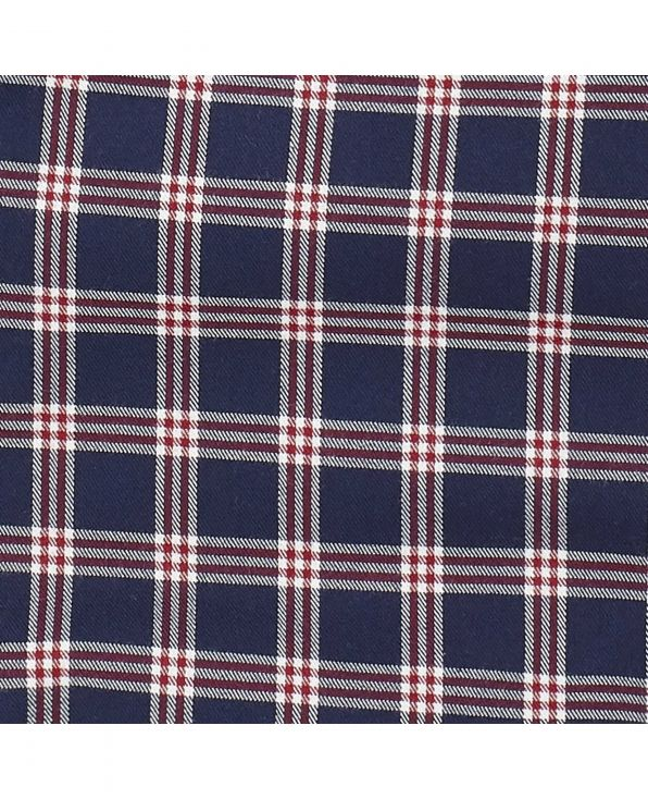 Navy Red Brushed Check Lounge Pants