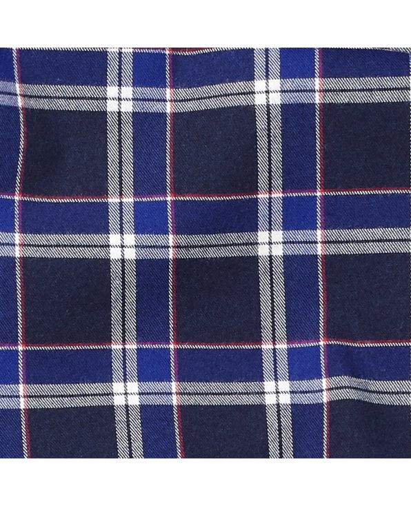 Navy Red Check Lounge Pants