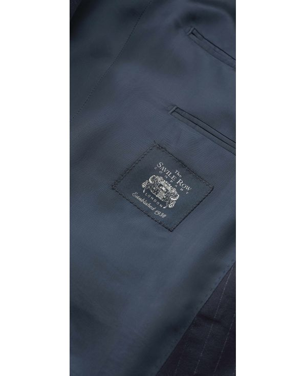 Navy Stripe Double-Breasted Suit - MSUIT353NAV