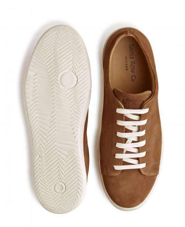 Tan Suede Trainers - MSH773TAN - Small Image 280x344px