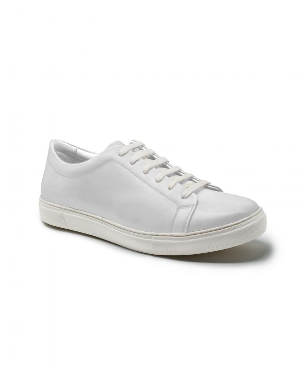 White Leather Trainers - MSH772WHT - Small Image 280x344px