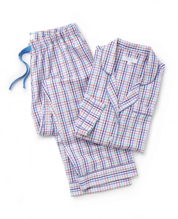 Women's Woven Checked Pyjama Set Model Shot - LPJ1004CHK