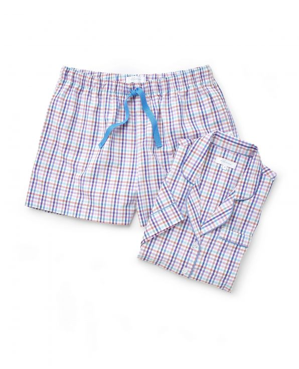 Women's Woven Checked Shortie Pyjama Set