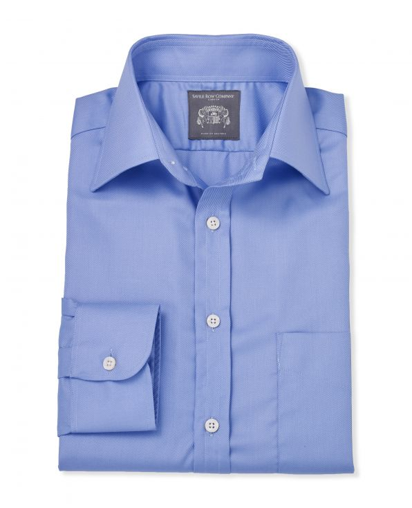 Jordan Blue Twill Made To Measure Shirt
