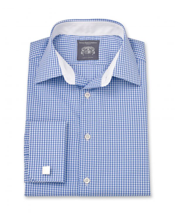 Joseph Blue Gingham Made To Measure Shirt