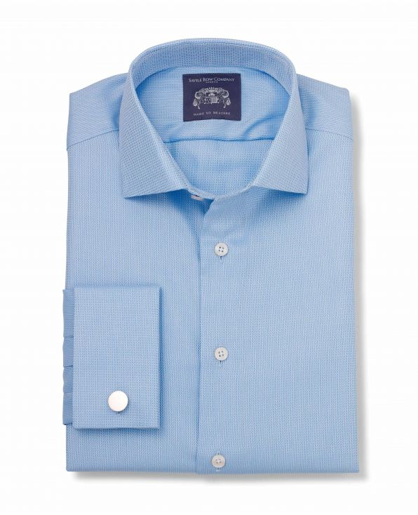 Kirk Blue Dobby Made-To-Measure Shirt