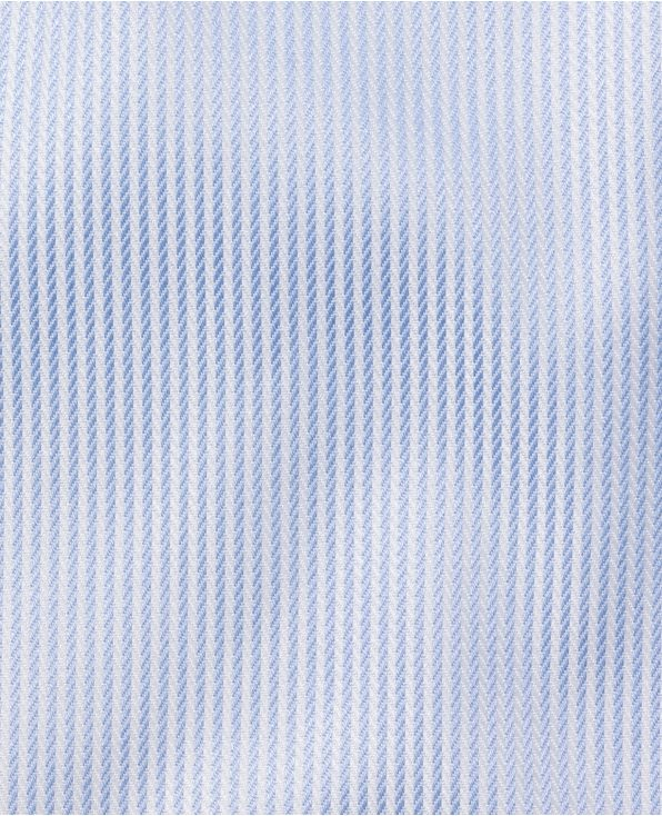 Leon Blue Satin Dobby Stripe Made To Measure Shirt