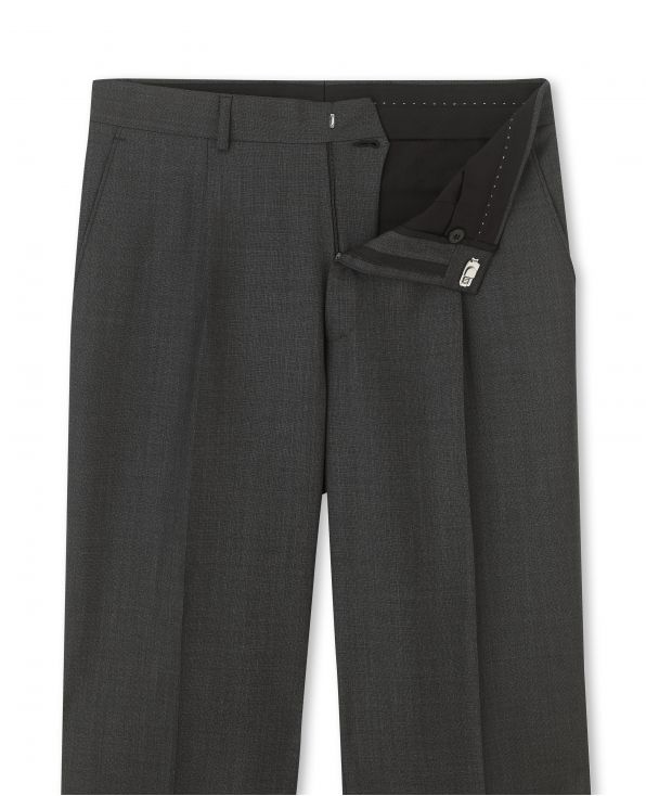 Grey Microdot Classic Fit Trouser