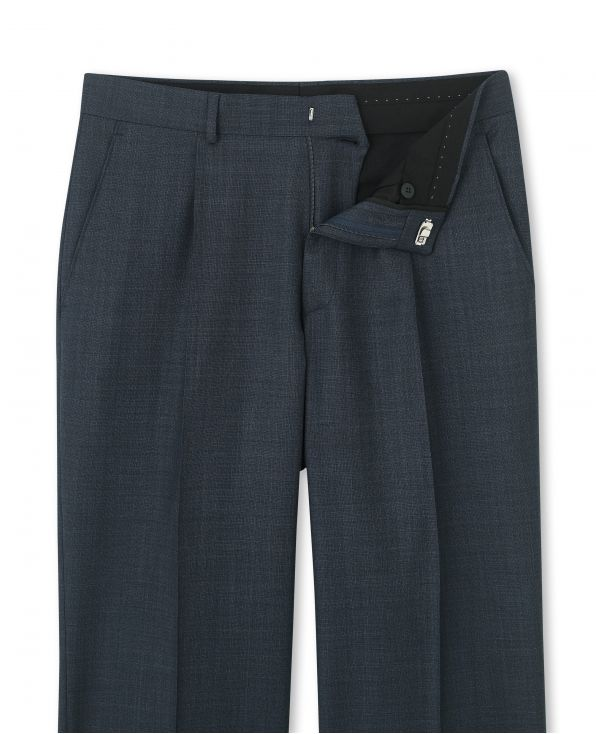 Navy Microdot Classic Fit Trouser