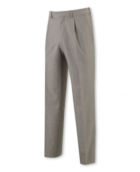 Grey Brown Classic Fit Trouser
