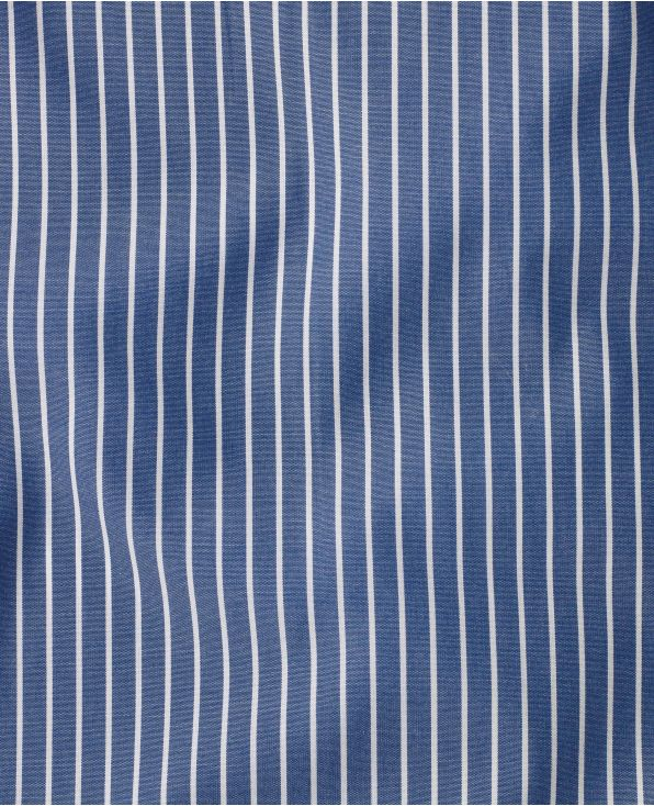 Miles Navy Reverse Stripe Made To Measure Shirt - Large Image