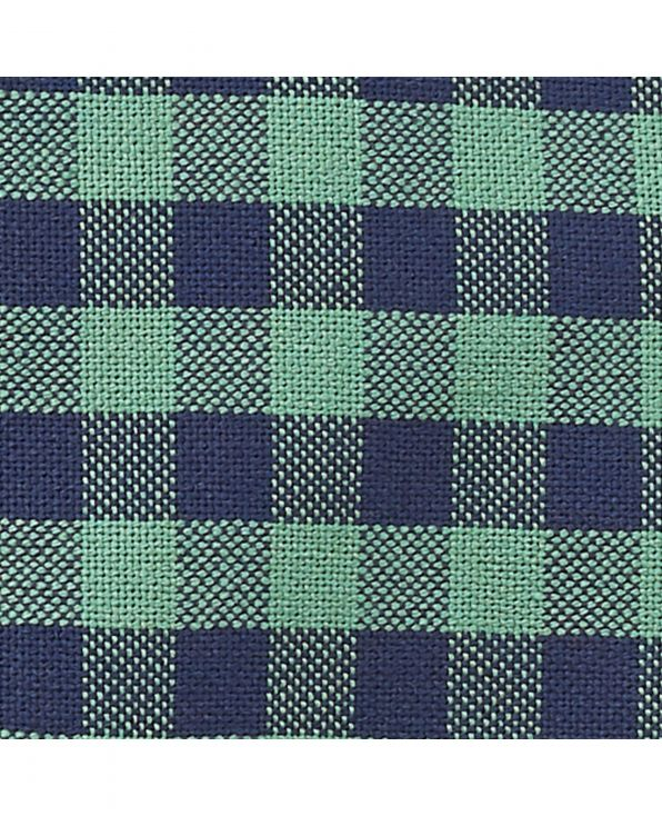 Navy Green Gingham Check Classic Fit Shirt - 1335GRN - Small Image 280x344px