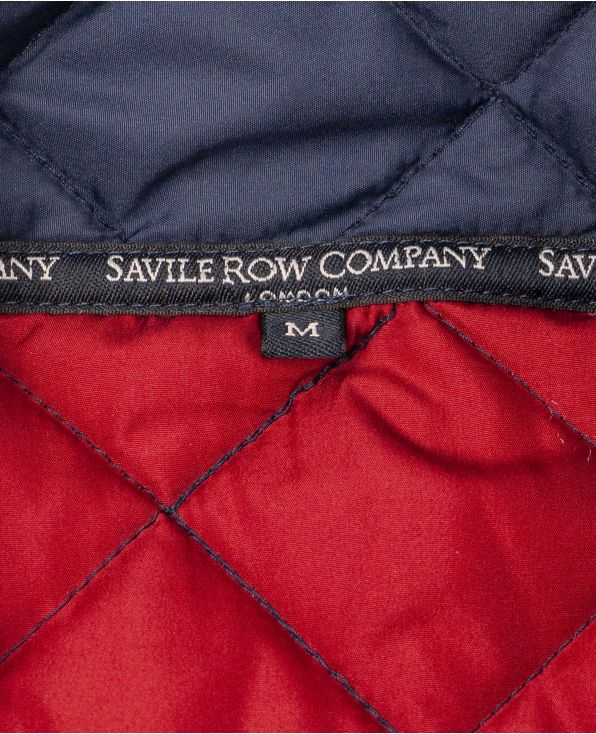 Navy Quilted Jacket - MCC302NAV - Large Image
