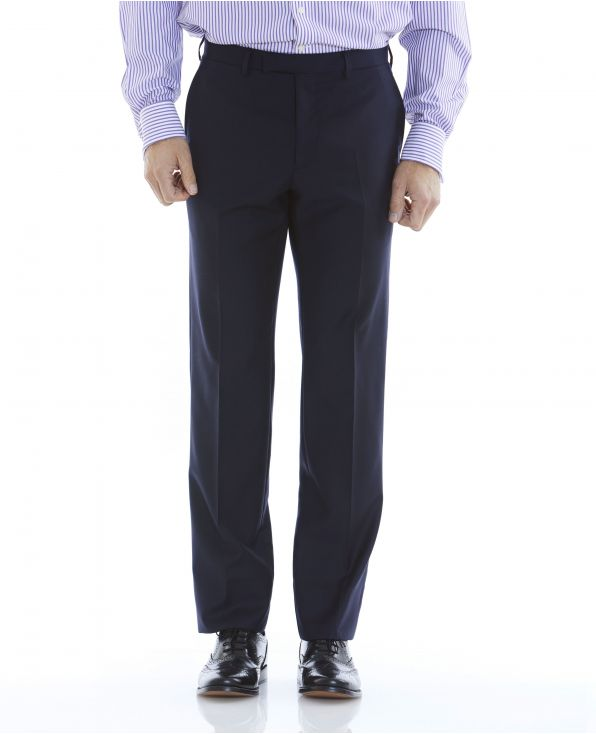 Navy Tailored Business Suit Trousers - MFT503NAV - Large Image