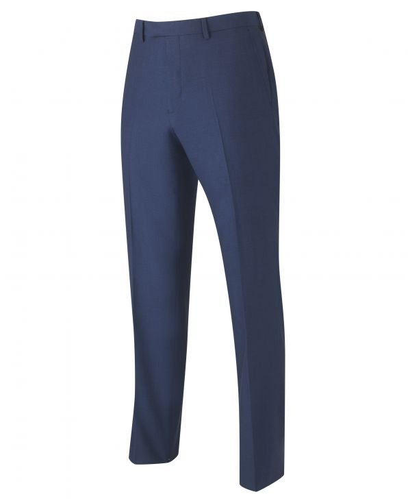 Navy Tailored Business Suit Trousers - MFT508NAV - Large Image