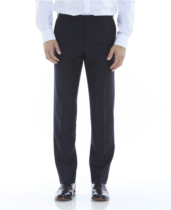 Navy Tailored Business Suit Trousers - MFT509NAV - Large Image