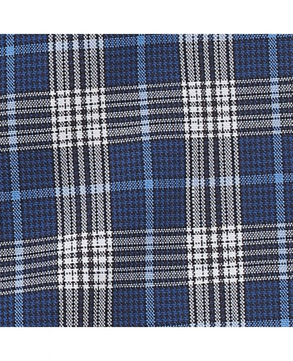 Navy White Blue Check Classic Fit Casual Shirt - 1334NAB - Small Image 280x344px