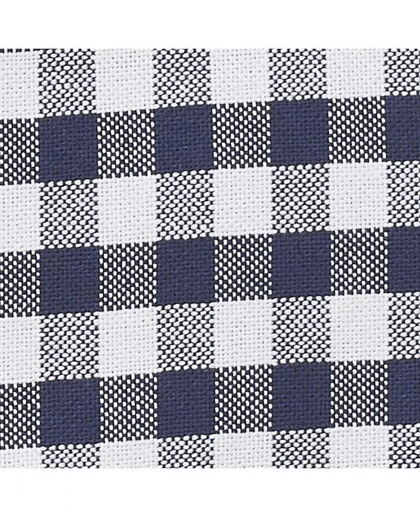 Navy White Gingham Check Classic Fit Shirt - 1335WHN - Large Image