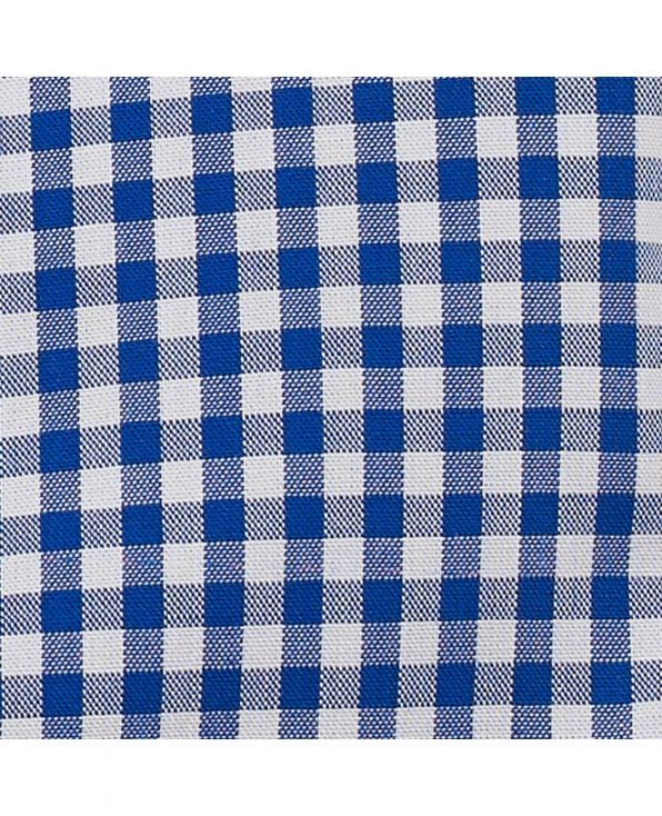 Navy White Gingham Classic Fit Button-Down Shirt - 1313NAV - Large Image