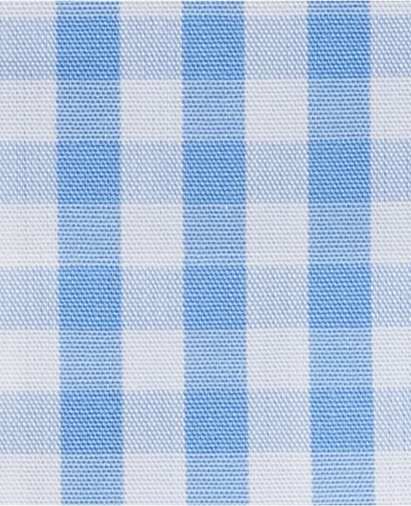 Oswald Blue White Gingham Made-To-Measure Shirt