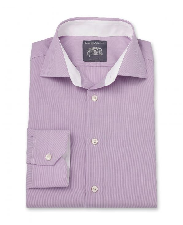 Simon Lilac Hairline Stripe Made-To-Measure Shirt