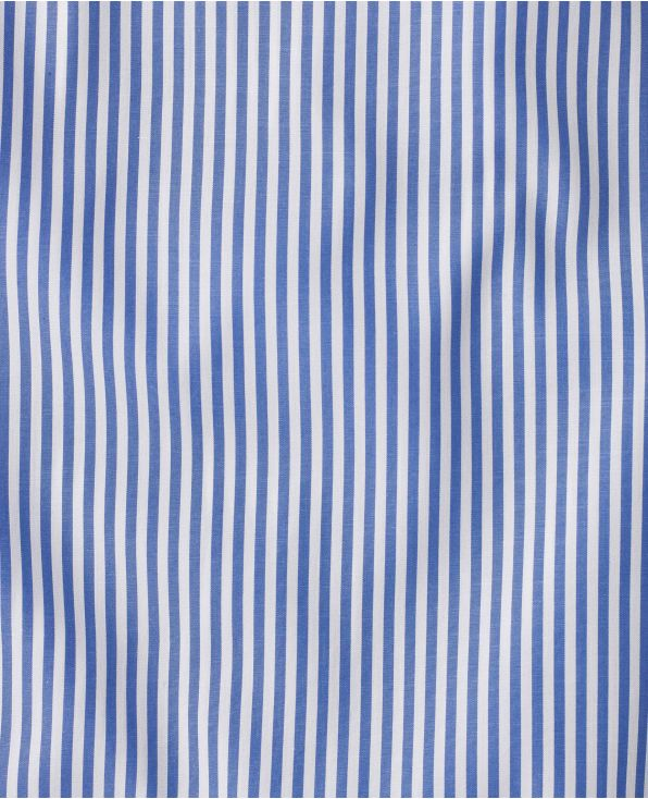 Stewart Blue Bengal Stripe Made To Measure Shirt - Large Image