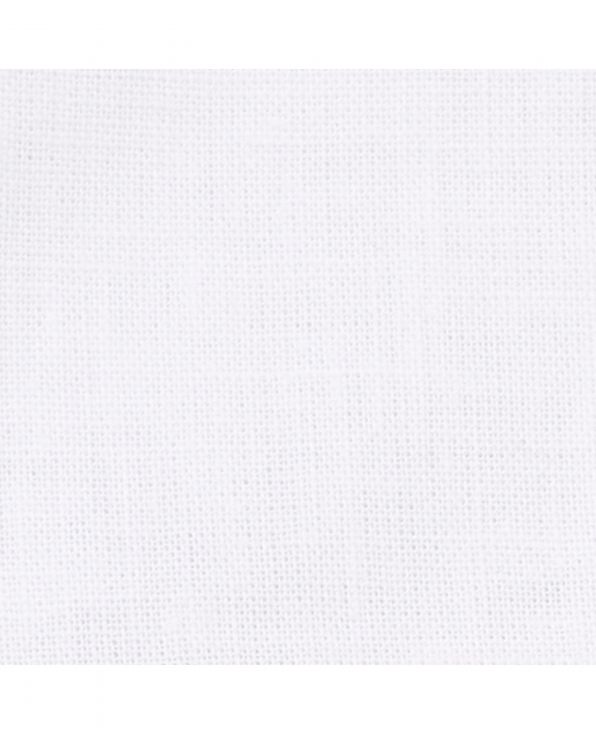 White Linen-Blend Classic Fit Short Sleeve Shirt - 1357WHTMSS - Large Image