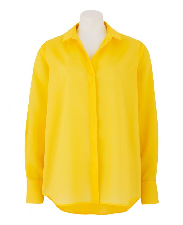 Women's Yellow Fly Front Shirt - LSC353SUN - Large Image