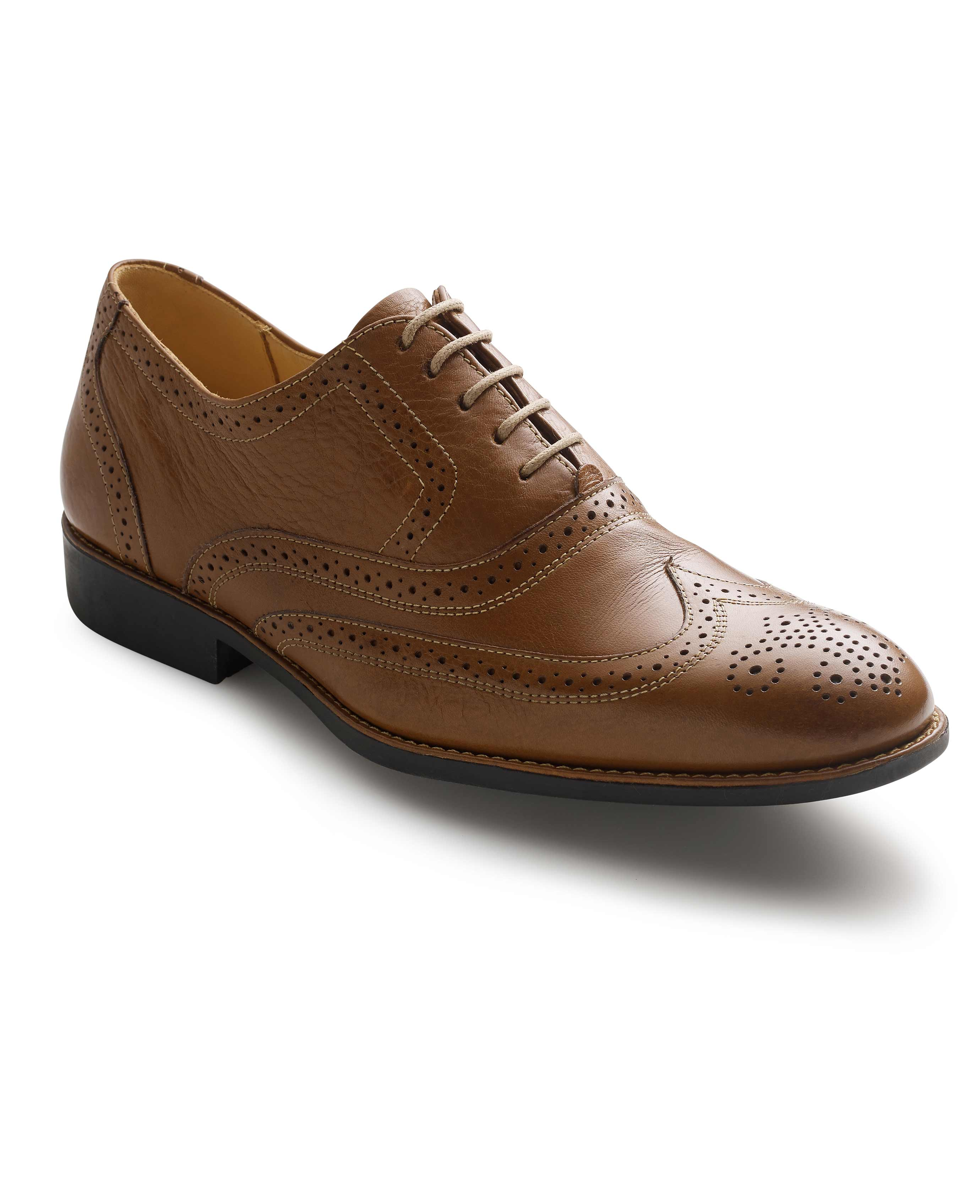 6ab869b4966 Men's tan leather full brogues | Savile Row Company