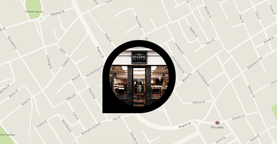 Savile Row location map